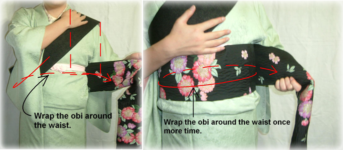 How to tie an obi 4